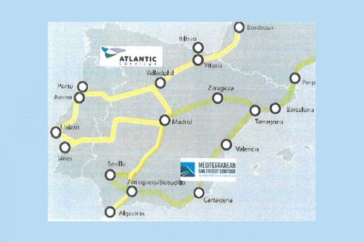 El mapa que usó el jefe de ADIF en Tánger