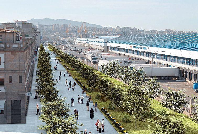 Recreación de la superficie del túnel de Beiramar reconvertido en paseo